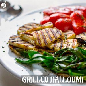 Grilled halloumi